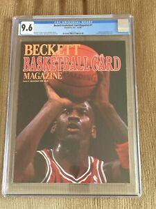 Michael Jordan Beckett Magazine #1 1990 First Cover Newsstand CGC 9.6 NO LABEL