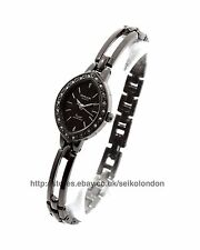 Omax Ladies Diamonte Watch, Black Finish, Seiko (Japan) Movt. RRP £49.99