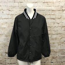 Easton Youth XL Black Batting Jacket Snap Button Front Long Sleeve O26