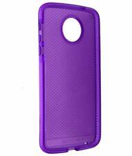 Tech21 Evo Check Slim Gel Case Cover for Moto Z Droid - Purple