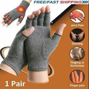 2x Anti Arthritis Gloves Hand Support Pain Relief Arthritis Finger Compression