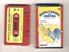 GIOCA E SUONA CON CRISTINA D'AVENA Musicassetta 30 OTTIMO Mc Audiocassetta 1989