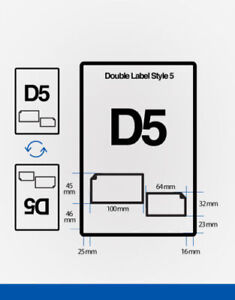 D5 DOUBLE LABELS INTEGRATED SM & SMP STICKERS SHEET A4 100 x 45/64 x 32 - 1000