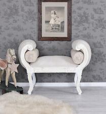 SOFA Barock Sitzbank WEISS Couch SHABBY CHIC VOLUTENSOFA LIEGE Barockhocker