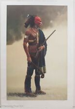 "David Wright Native American Signed Print ""The Warrior"" Limited Edition, Fine!"