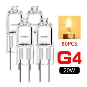80pcs g4 base jc type tungsten halogen bulb lamp light high lumens 12v 20w 1CE2