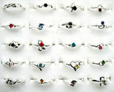 New FREE Wholesale Lots 50pcs Crystal Of Rhinestone Silver Plated Wedding Rings