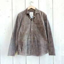 The Territory Ahead Mens Suede Leather Brown Taupe Jacket Coat Size Small S