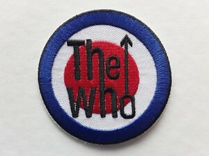 THE WHO CLASSIC 60S MOD HEAVY POP ROCK MUSIC BAND EMBROIDERED PATCH UK SELLER