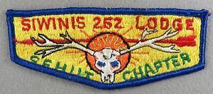OA Siwinis Lodge 252 Sehut Chapter Flap RBL Bdr. Los Angeles Area Council (GLUE