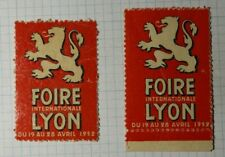 intl Lyons Fair WW Exposition Poster Stamp Ads 1952