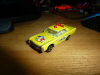 "Majorette 3"" PLYMOUTH FURY Diecast YELLOW POLICE Car 1/70 Vintage Very RARE. #"
