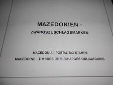 Sammlung Makedonien Mazedonien 1991-2015 Zwangszuschlagsmarken Postfrisch ** MNH