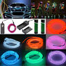 Flexible Neon LED Light Glow EL Wire String Strip Rope Tube Car with Battery Box