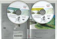 ORIGINALE AUDI RNS-E 2004-2009 Disco di navigazione DVD NAVIGATORE SATELLITARE MAPPA 2008 Set Completo 2 CD