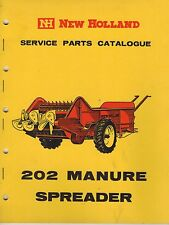 New Holland 202 Manure Spreader Service Parts Catalogue 1963 3299F
