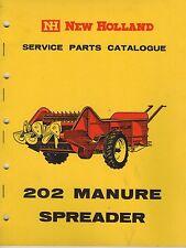 NEW Holland 202 SPANDILETAME catalogo pezzi di ricambio 1963 3299 F