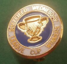 Sheffield Wednesday League Cup Winners Blue/White Football Brooch Pin Badge