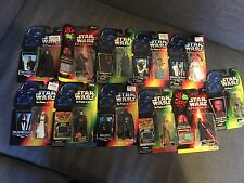 Star Wars The Power of the Force LOT: Yoda, Han Solo, Luke, Emperor, Darth (x11)