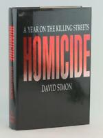 David Simon Signed First Edition Homicide A Year on the Killing Streets HC w/DJ