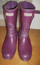 HUNTER Original Short Women's Size 9 Purple Rubber Rain Boots