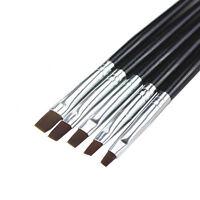 5pcs UV GEL & Acrylic Nail Art Tips Design Dotting Painting Pen Polish Brush Set