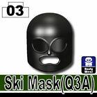 SIDAN Black Ski Mask Army Balaclava Weapons for Brick Minifigures