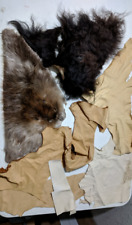 New listing 1 Pound 9 oz. of Deer Suede Leather Hide - Buffalo and Beaver Scraps Fur