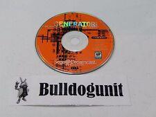 Generator Volume 1 Demo Game Disc Only Sega Dreamcast