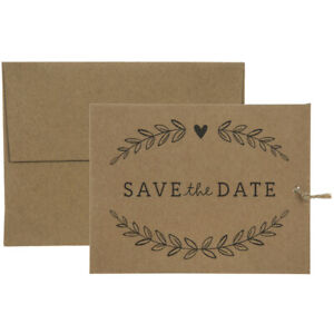 We're Tying The Knot Save The Date Card Wedding Supplies Special Events 25 Sets
