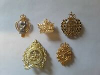 Military Pins and Badges 5 pcs. War Collectibles . Assorted Lot .