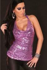 Sequin Clubwear Hand-wash Only Regular Tops & Blouses for Women