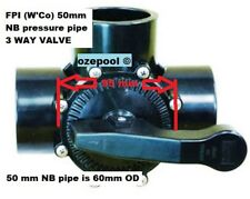 FPI WATERCO 50mm(50mm Nom Bore pipe is 60mm OD)  3 WAY VALVE, cheaper than parts
