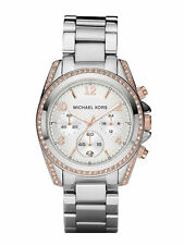 Michael Kors Quartz (Battery) Silver Case Wristwatches