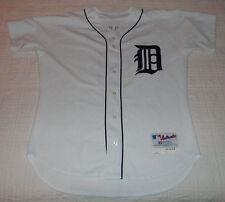 2004 Detroit Tigers Juan Samuel HOME WHITE GAME WORN USED JERSEY 3rd Base Coach