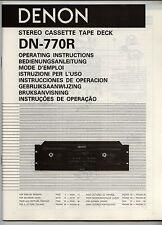 DENON - DN-770R  -  INSTRUCCIONES DE OPERACION   ( ORIGINAL BOOK )
