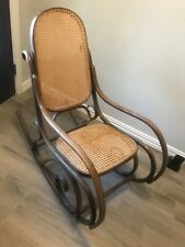 Thonet style Bentwood and Cane Rocker