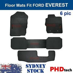 Prime Quality Rubber All Weather Floor Mats Liners fit Ford EVEREST 2015-2021