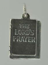 Sterling Silver 925 Christian Jesus New Testament The Lords Prayer Bible Charm