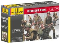 HELLER 1/72 WWII Russian Infantry Plastic Toy Soldiers 50 ESCI REISSUE FREE SHIP
