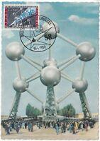 MXC51) 1958, Brussels, Belgium, Atomium, maximum card