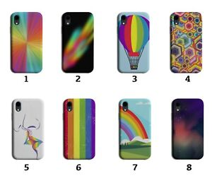 Kids Colourful Phone Case Cover Multicoloured Rainbow Childrens Childs 8065 B