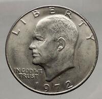 1972 President Eisenhower Apollo 11 Moon Landing Dollar USA Coin Denver  i46172