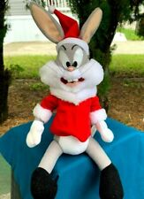 "RARE Vintage ACE Bugs Bunny Santa Suit Looney Tunes 13"" Plush Stuffed Animal Toy"
