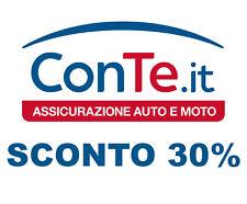 Buono Codice Sconto 30% Assicurazione ConTe.it Admiral Polizza Auto Moto Targa