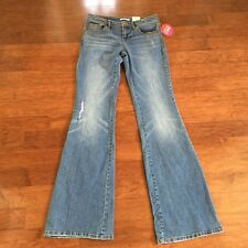 Women's BONGO Distressed Flare Blue Jeans, Size 3, NEW WITH TAGS