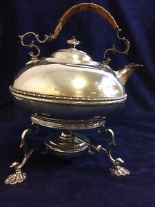 Vintage Silver Plated Elkington & Co Spirit Kettle Burner And Stand DAMAGED