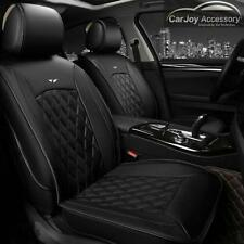 Pure Black Leather Car Seat Cover for Mitsubishi Lancer 5 Seats Outlander Pajero