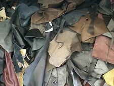 Scrap leather Upholstery hide 1/2 pound remnants mixed colors