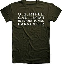 International Harvester stamp M1 Garand Rifle T Shirt Korean war Handmade